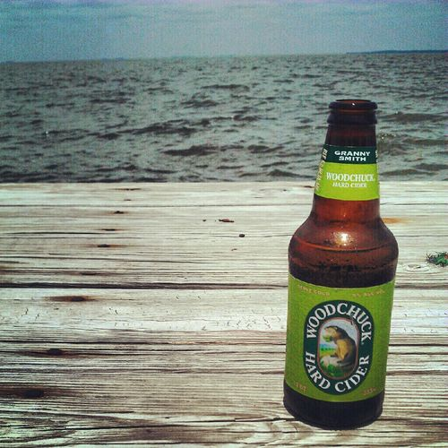 Cider on the dock