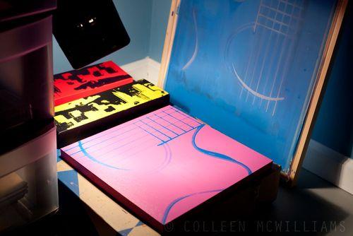 Pink & Blue Guitar Print!