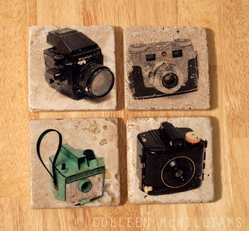 Vintage Camera Coasters at Ink the Print!