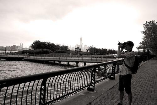 John photographing New York.