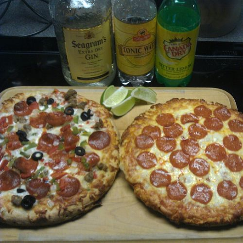 Gin & Tonics and Pizza